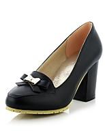 Women's Shoes Chunky Heel Heels/Round Toe Pumps/Heels Dress Black/Blue/Purple