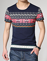 Men's Casual Print Slim Short Sleeved T-Shirts