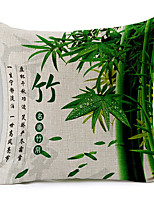 Country Style Traditional Chinese Bamboo Cotton/Linen Decorative Pillow Cover