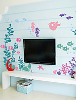 Wall Stickers Wall Decals Style Submarine Flower PVC Wall Stickers