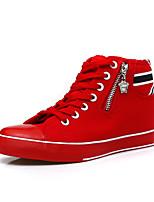 Scarpe Donna Di corda Piatto Creepers/Punta arrotondata Sneakers alla moda Ufficio e lavoro/Casual Rosso