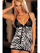 Women's Sexy Lingerie Lace Dress Underwear Black Leopard Babydoll Sleepwear