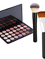 Pro Party 28 Colors Eyeshadow Matt Earth Color Makeup Palette + 2Powder Brush