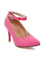 Women's Shoes Synthetic Stiletto Heel Heels/Basic Pump Pumps/Heels Office & Career/Dress/Casual Black/Red