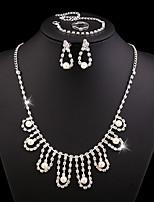 Wedding Jewelry Set include Necklace & Earrings & Bracelet & Rings