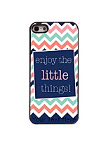 Personalized Gift Enjoy The Little Things Design Aluminum Hard Case for iPhone 5/5S