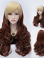 New Style Natural Wave Mix Color Long Hair Wigs Synthetic Wave Hair Wigs Fashion