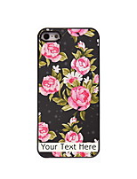 Personalized Gift The Elegant Flower Design Aluminum Hard Case for iPhone 5/5S