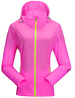 Outdoor Women's UV and Sunprotection Ultra Thin Waterproof Windbreaker