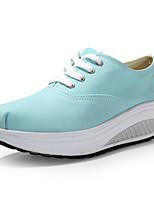 Calçados Femininos Lona Anabela Anabela/Plataforma/Sapatos de Berço Sapatos para Esportes Ar-Livre/Escritório & Trabalho/CasualAzul