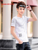 2015 T Shirts Men Short Sleeve Sport Man T-Shirt O Neck Size M-4XL