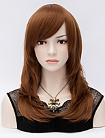 The European and American Wind 50 cm Level Face Brown Natural Straight Wig