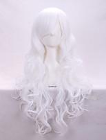 Fashionable Curly Hair Fleeciness A Wig White Anime Cosplay Euramerican Fashion Wig