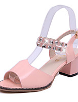 Women's Shoes  Chunky Heel Heels/Open Toe Sandals Outdoor/Office & Career/Casual Blue/Pink/White