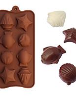 moldes para hornear en forma de mariscos hielo / chocolate / molde de la torta