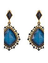 Women's Vintage Elegant blue Zircon Stud Earrings HJ0029