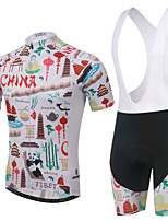 Women's/Men's/Unisex Short Sleeve S/Summer Cycling Suits Bib ShortsHigh Breathability (>15,001g)/Ultraviolet R/Quick Dry