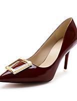 Scarpe Donna Finta pelle A stiletto A punta Scarpe col tacco Formale Rosso/Grigio
