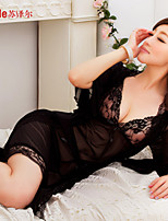 Suzel Sexy Lingerie Sexy woman summer pajamas nightdress Nightgown lure high-end lace three piece set