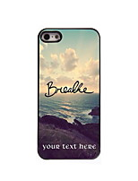 Personalized Gift Breathe Design Aluminum Hard Case for iPhone 5/5S