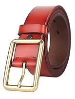 Men Vintage Alloy Calfskin pin buckle Waist Belt