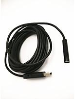 Longitud del cable de 5 m, 10 mm de diámetro resistente al agua, a prueba de polvo usb endoscopio industrial