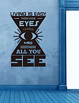 Wall Stickers Wall Decals , Living is Easy with Your Eyes PVC Wall Stickers