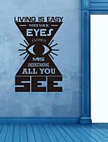 pegatinas de pared Adhesivos de pared, vivir es fácil con los ojos pegatinas de pared de pvc