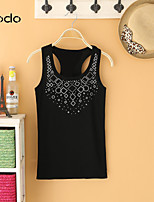 Women's White/Black/Gray T-shirt , Sexy/Casual Sleeveless