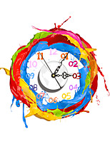 Modern 3D Effect Colorful Paint Pattern Wall Clock 15.7*15.9 inch / 40*40.4 cm