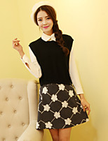 Women's Skirts , Vintage/Bodycon/Casual/Cute/Party/Work Above Knee Embroidery