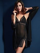Suzel sexy lingerie sexy summer lady lace nightdress pyjamas three suit