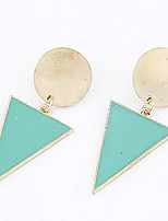Alloy Acrylic Triangle Pattern Earrings