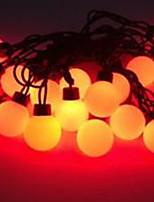 4W 5 Meter Outer Diameter 20pcs Bulb LED Modeling String Lights  Super Big Ball Lights, Red Color