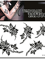 Tattoo Stickers Non Toxic/Pattern/Lower Back/Waterproof Flower Series Adult Red/Green Paper 1 17*16 Rose
