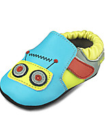 Baby boys Shoes Outdoor/Casual Suede Loafers Blue with Cartoon pattern