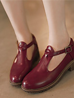 Women's Shoes Synthetic Low Heel Heels/Basic Pump Pumps/Heels Office & Career/Dress/Casual Black/Yellow/Pink/Burgundy