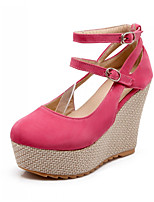 Women's Shoes Synthetic Wedge Heel Heels/Basic Pump Pumps/Heels Office & Career/Dress/Casual Black/Red/White