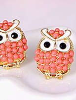 FreshSweet Preppy Cute Little Owl Pearl Earrings