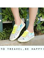 Scarpe Donna Di corda Piatto Creepers/Comoda/Punta arrotondata Sneakers alla moda Tempo libero/Formale/Casual Giallo/Rosa