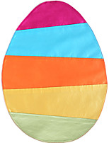 Easter Ellipse Shape Faux Silk Placemat Rainbow Pintuck Table Mat