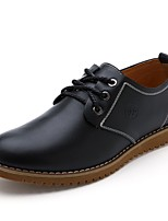 Men's Shoes Outdoor/Office & Career Leather Oxfords Black/Burgundy/Khaki