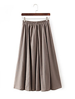 Women's Casual/Party Stretchy Medium Maxi Skirts (Linen)