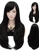 nuovo stile di colore # 1 capelli lisci lunghi parrucche parrucche sintetiche dei capelli di moda