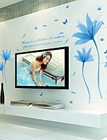 Wall Stickers Wall Decals, Blue Dream Flowers PVC Wall Stickers