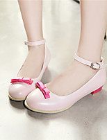 Girls' Shoes Casual Heels/Ankle Strap/Round Toe  Pumps/Heels Pink/Beige