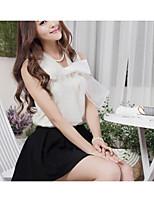 Women's White/Gray Shirt Sleeveless