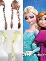 parrucca cosplay tessitura regina elsa e anna principessa anime parrucche cosplay