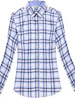 Women's Long Sleeve Check Blouse