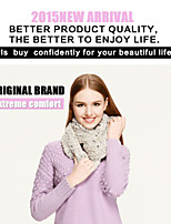 CSZM Snood Winter Women's Fashion Neck Ring Style Beige Color Warm Neck Circle Cowl Thick Knit Infinity Scarf SNA-0044